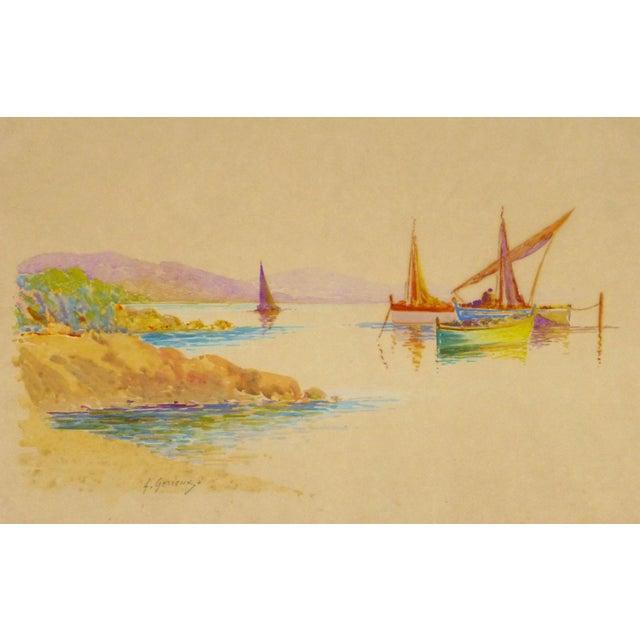 Original Rainbow Harbor Painting, C. 1940 - Image 1 of 4