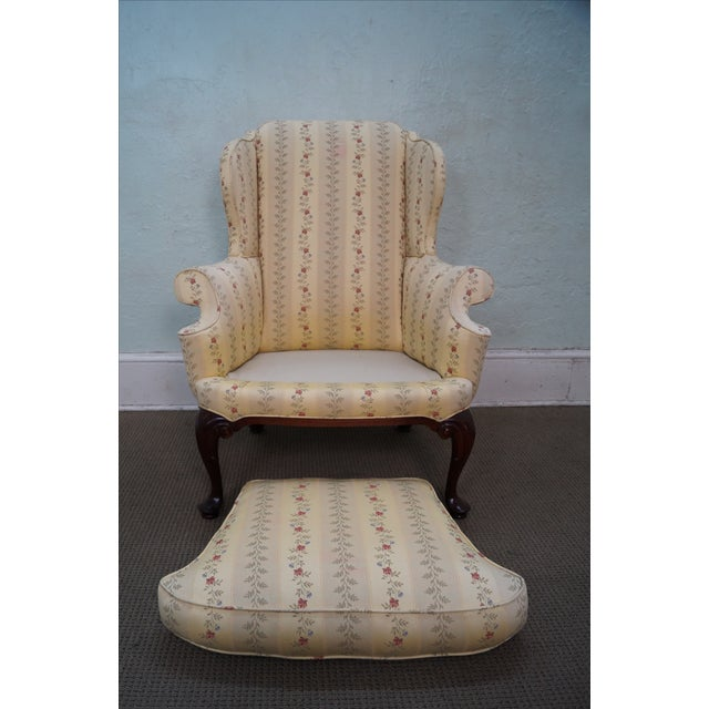 Queen Anne Style 18th Century Wing Chair - Image 8 of 10