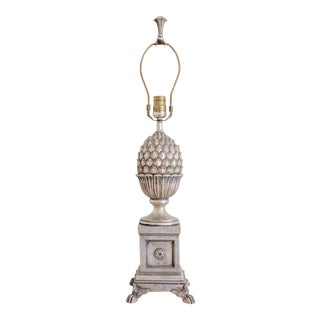 Antiqued Cast Metal Pineapple Table Lamp