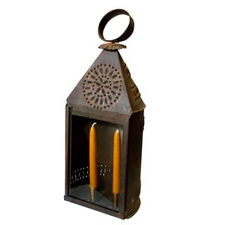 Early 1800s Punched Tin Candle Lantern