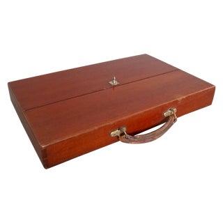 Antique 1920s English Mahogany Sheet Music Case