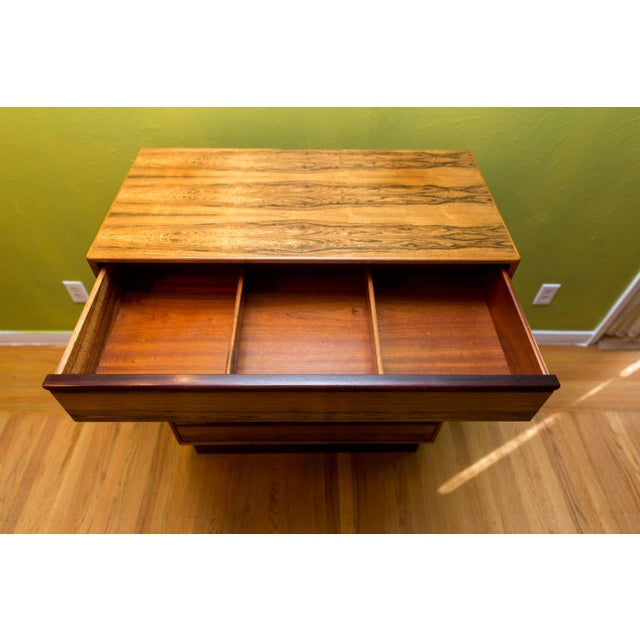 Mid Century Westnofa Rosewood Highboy Dresser - Image 9 of 11