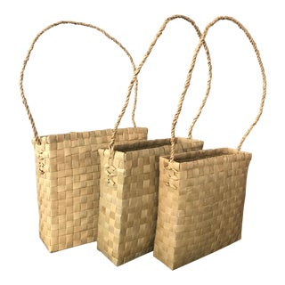 Vintage Basket Totes - Set of 3