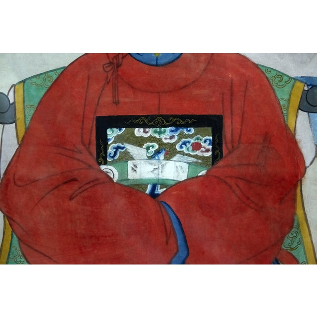 Antique Asian Ancestral Painting - Image 4 of 7