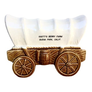Vintage Covered Wagon Coin Bank
