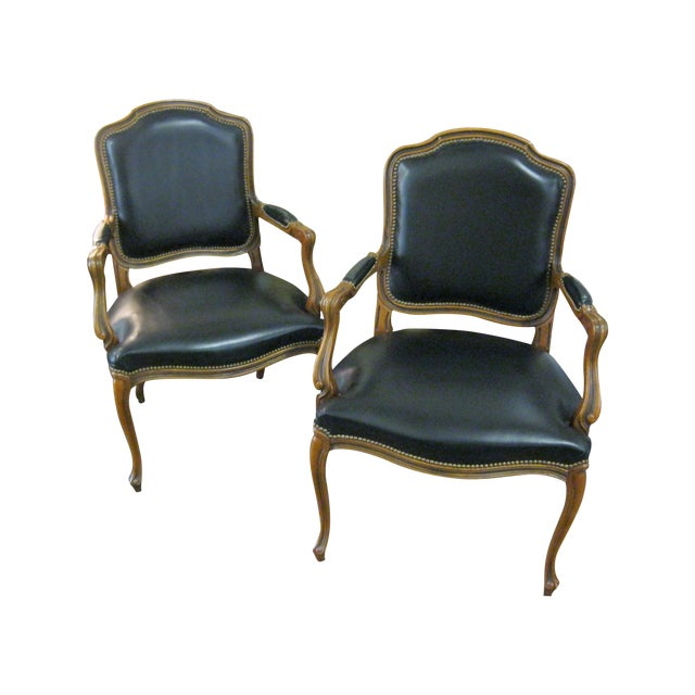 Image of Chateau d'Ax Bergere Chairs - A Pair