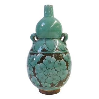 Chinese Oriental Ceramic Turquoise Vase