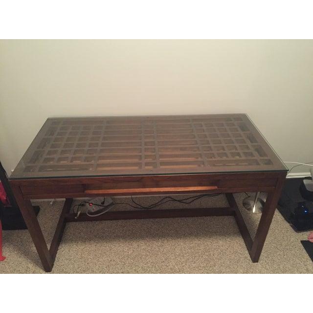 Crate & Barrel Wooden Desk - Image 2 of 4