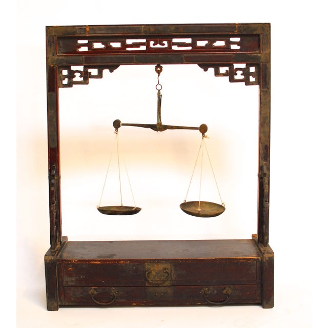 Chinese Carved Balance Scale - Image 2 of 6