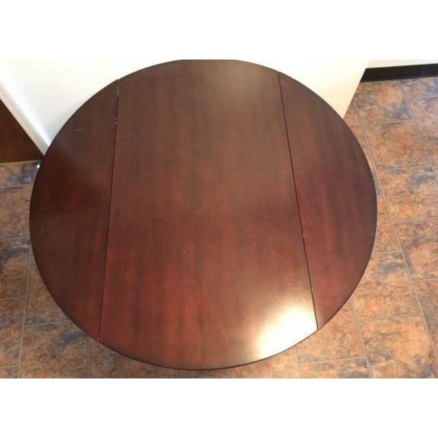 Solid-Wood Dining Table And Side Table - Image 4 of 5