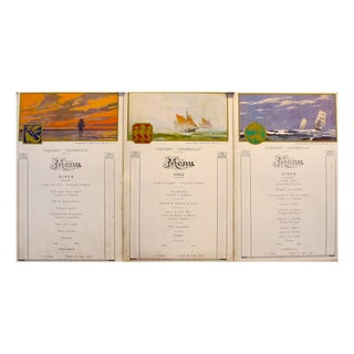 1930s French First Class Menu Cards