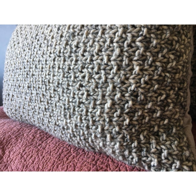 Knotted Wool Pillows, Warm Grey Decor Set/2 - Image 6 of 8
