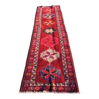 "Vintage Turkish Oushak Runner - 2'9"" X 9'5"""