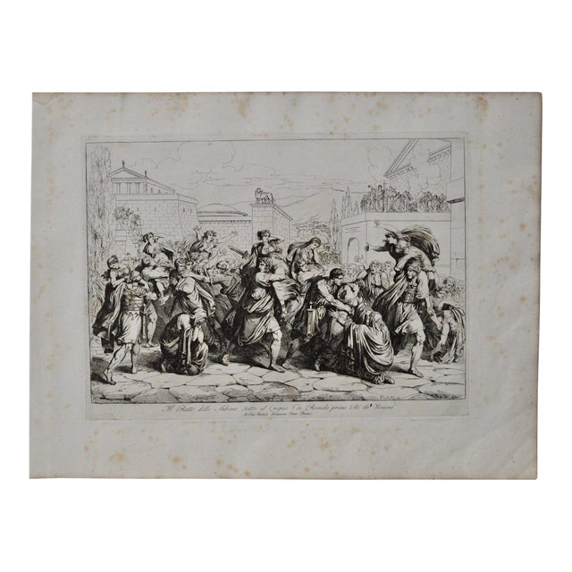 "Image of Bartolomeo Pinelli Engraving ""The Sabine Rats Under the Rein of Romulus"" c.1816"