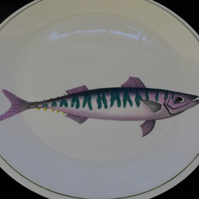 Dinner plate with fish atlantic pattern by villeroy for Fish plates near me