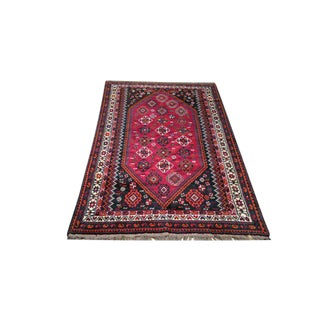 Traditional Shiraz Knotted Rug - 5′ × 8′