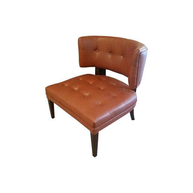 Burnt orange occasional chair chairish for Burnt orange accent chair