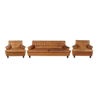 Arne Norell Merkur Sofa & Matching Lounge Chairs - Set of 3