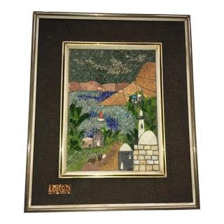 Israel Landscape Stone & Glass Mosaic Wall Art