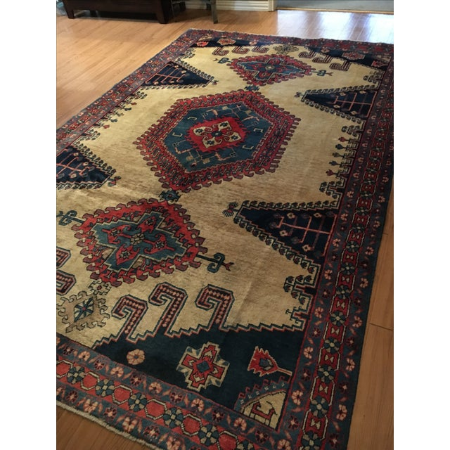 Image of Antique Hand Knotted Persian Rug - 10 X 7