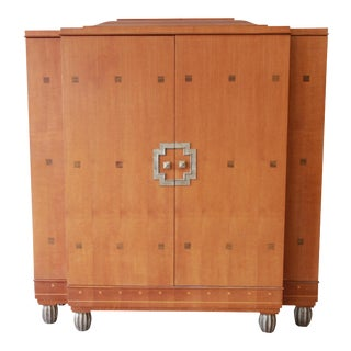Baker Furniture Art Deco Style Burlwood Armoire