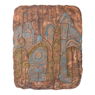 Large Abstract Ceramic Panel by Tom McMillin