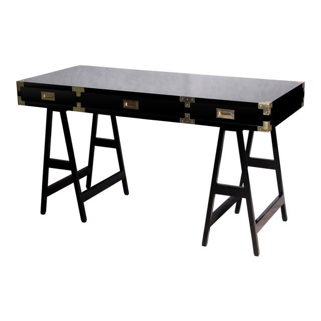 Selamat Designs Chiba Black Lacquer Study Desk - Image 1 of 8