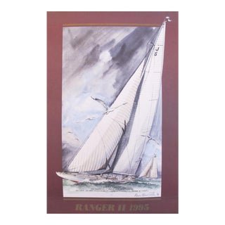 1995 America's Cup Sailing Poster, Ranger II Yacht
