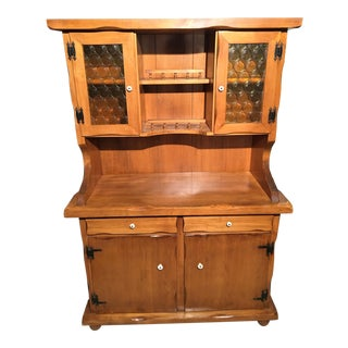 Vintage Solid Maple China Cabinet