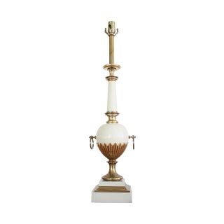 Art-Deco Brass and White Stiffel Table Lamp
