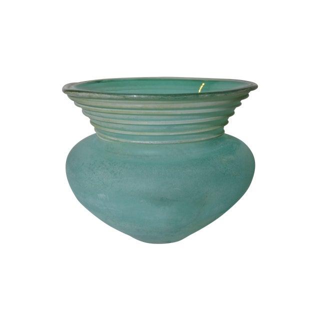 Signed Seguso Scavo Glass Vase - Image 1 of 5