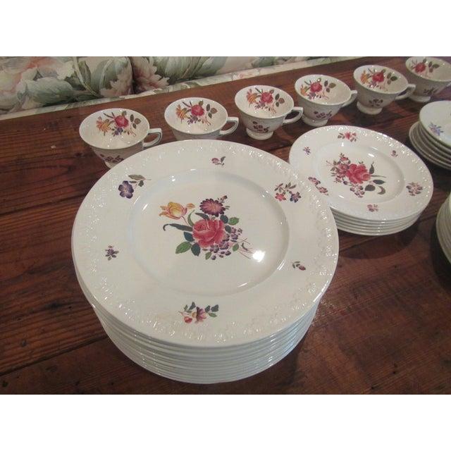 Vintage Floral Transfer & Embossed Wedgwood China - Set of 41 - Image 6 of 11
