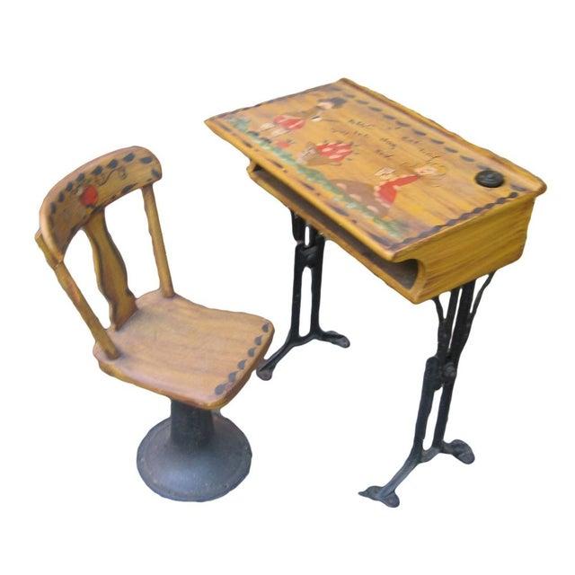 Antique Chandler Adjustable School Desk - Image 1 of 5