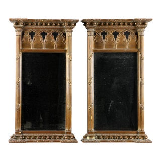 Gothic Style Mirrors - a Pair