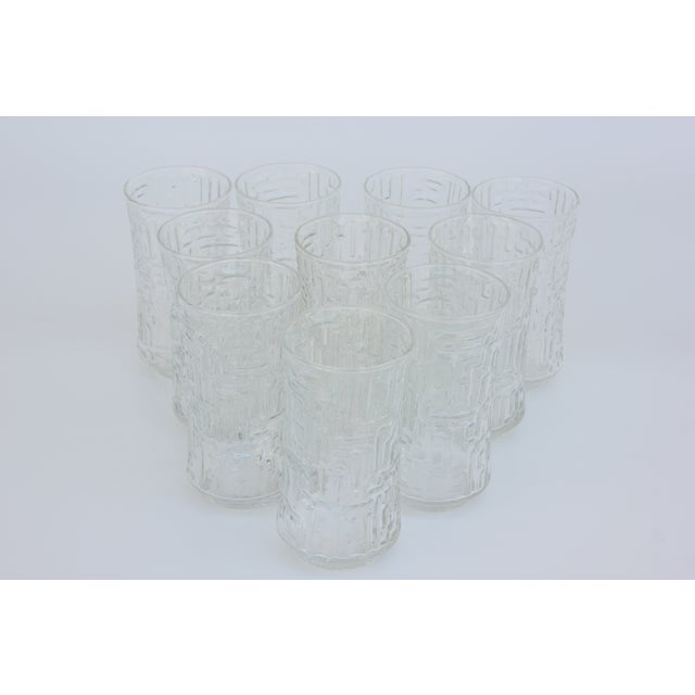 Artica Abstract Geometric Textured Glass Tumblers - Set of 10 - Image 4 of 5