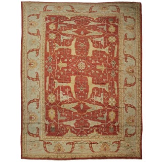 "Hand Knotted Fine Oushak Rug - 16'10"" X 13'3"""