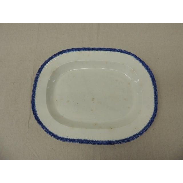 Antique Blue & White Ironstone English Platter - Image 2 of 5