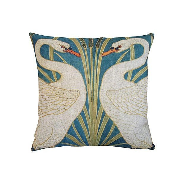 Swans Linen & Down/Feather Pillows - Pair - Image 6 of 8
