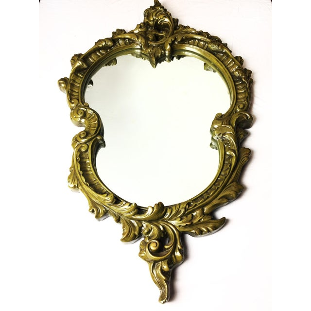 Vintage Hand Sculpted Plaster Italian Mirror - Image 2 of 5