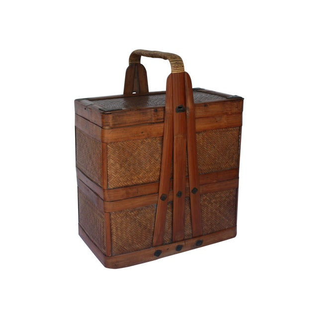 Image of Antique Chinese Wedding Basket