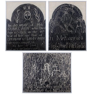 Early New England Gravestone and Marker Rubbings - Set of 3