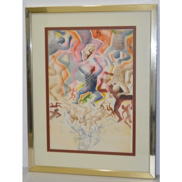 Mid-Century Modern Airbrush Painting by McBride - Image 3 of 11