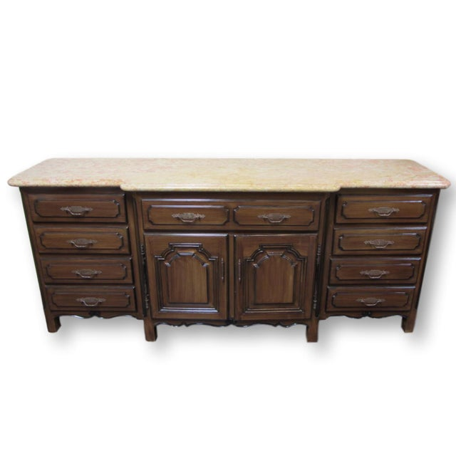 French Traditions Marble Top Buffet - Image 2 of 10