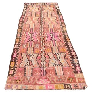Vintage Turkish Kilim Rug - 4′ × 11′2″