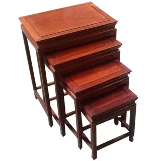 4-Piece Chinese Rosewood Nesting Tables