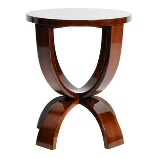 Art Deco Style Round Table with Parabolic Legs