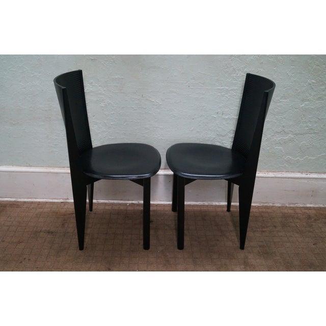 calligaris black italian dining chairs set of 4 chairish. Black Bedroom Furniture Sets. Home Design Ideas
