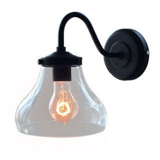 Vintage Industrial Glass Shade Wall Sconce