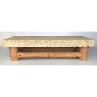 Monumental Fossil Stone Coffee Table by Michael Taylor