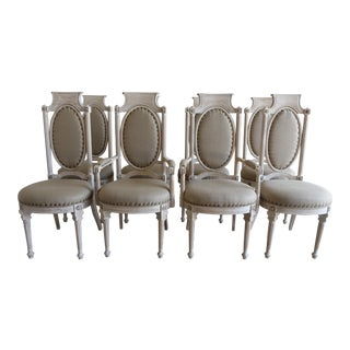Italian Neoclassical Style Dining Chairs - Set of 8